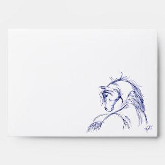 Artsy Horse Head Sketch Envelope