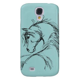Artsy Horse Head Sketch Galaxy S4 Cover