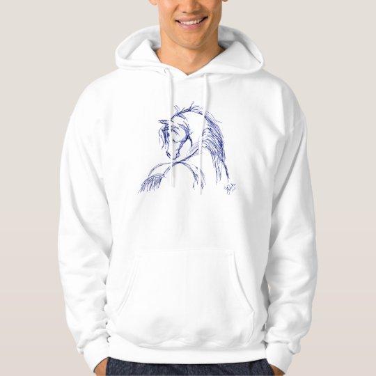 Artsy Horse Head Sketch Hoodie