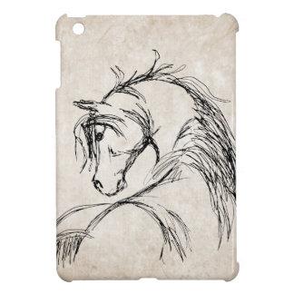 Artsy Horse Head Sketch iPad Mini Cases