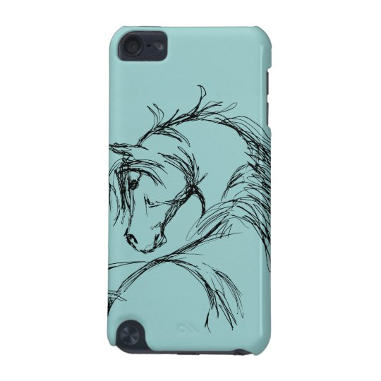 Artsy Horse Head Sketch iPod Touch 5G Cover