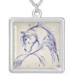 Artsy Horse Head Sketch Jewelry