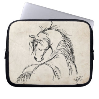 Artsy Horse Head Sketch Laptop Sleeve