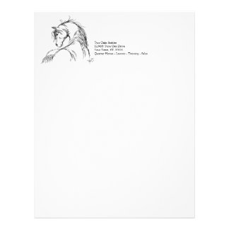 Artsy Horse Head Sketch Letterhead