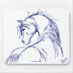Artsy Horse Head Sketch Mouse Pad