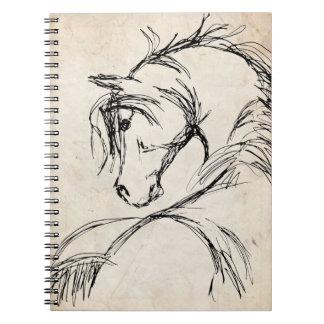 Artsy Horse Head Sketch Notebook