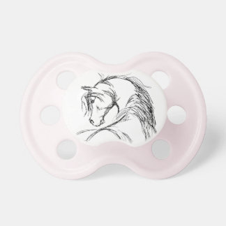 Artsy Horse Head Sketch Pacifier