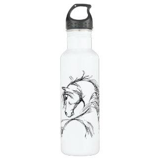 Artsy Horse Head Sketch 24oz Water Bottle