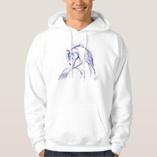 Artsy Horse Head Sketch Pullover