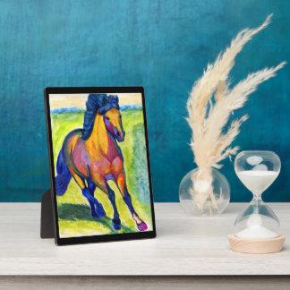 Artsy Horse Plaque