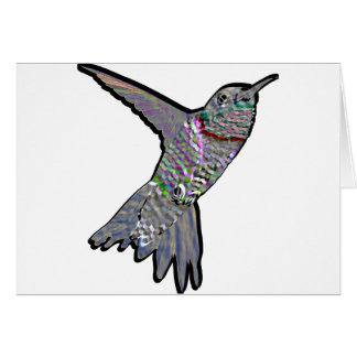 Artsy Hummingbird Greeting Card