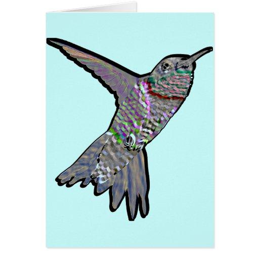 Artsy Hummingbird Card