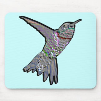 Artsy Hummingbird Mouse Pad
