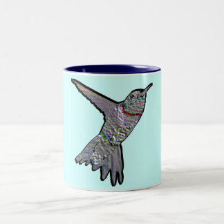 Artsy Hummingbird Two-Tone Coffee Mug