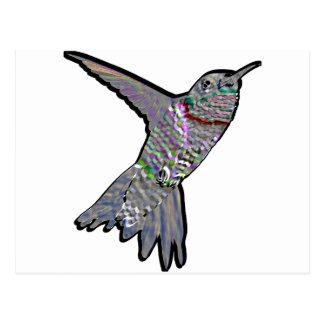 Artsy Hummingbird Postcard