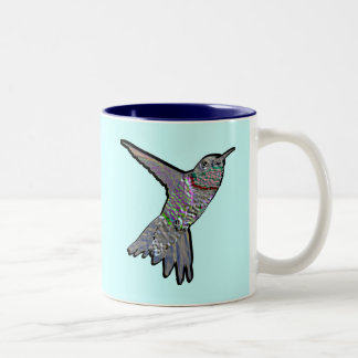Artsy Hummingbird Two-Tone Coffee Mug