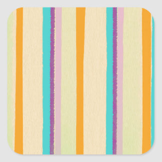 Artsy Kid Stripes Square Sticker