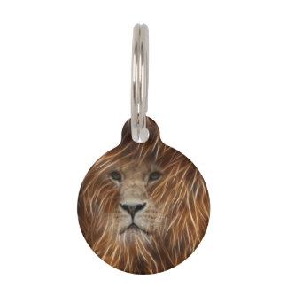 Artsy Lion Pet Tags