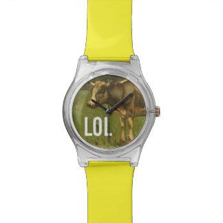 Artsy LOL Cow - Trendium Art Captions Wristwatch