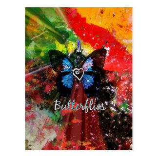 Artsy Love Butterfly Postcard