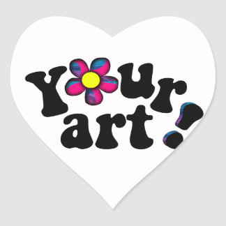 Artsy Love! Create your very own original heart Heart Sticker