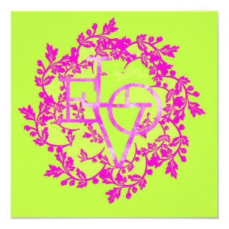Artsy Love Invitation Greeting Card Thank you note