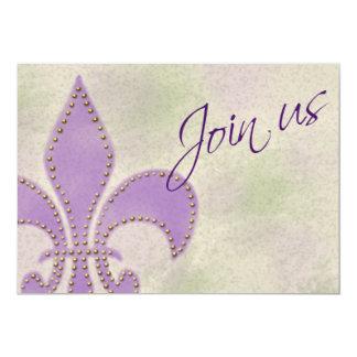 Artsy Mardi Gras Wedding Event New Orleans Invite