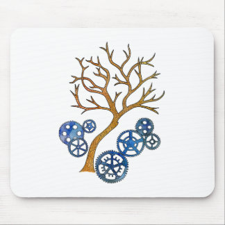 Artsy Nature's Machine Pen Illustration Mouse Pad