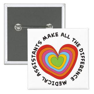 Artsy Nursing Assistant Buttons Hearts