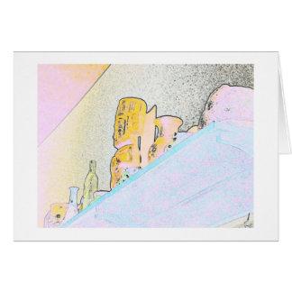 Artsy Objects on a Shelf Card