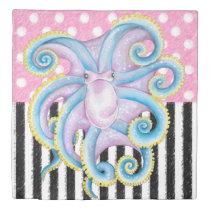 Artsy Octopus Pink Duvet Cover