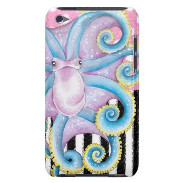 Beach Themed Artsy Octopus Pink iPod Case-Mate Case