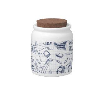 Artsy Office Supplies Candy Jar