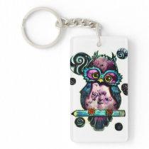 Artsy Owl Keychain