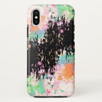 Artsy Paint Brush Strokes Style iPhone XS Case