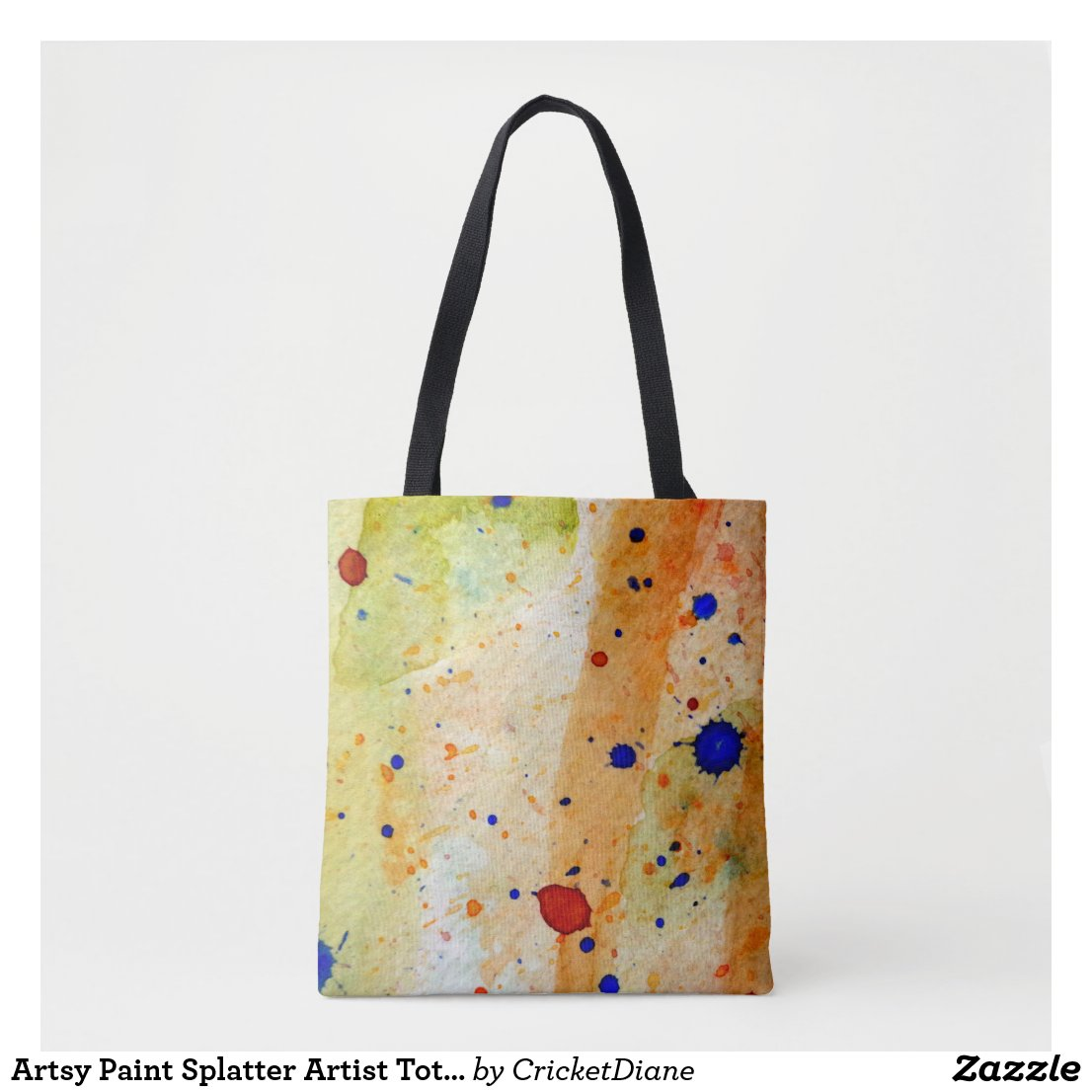 Artsy Paint Splatter Artist Tote Bag