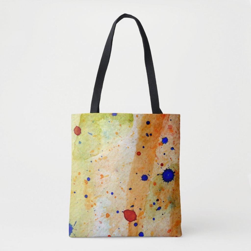 Artsy Paint Splatter Artist Tote Bag