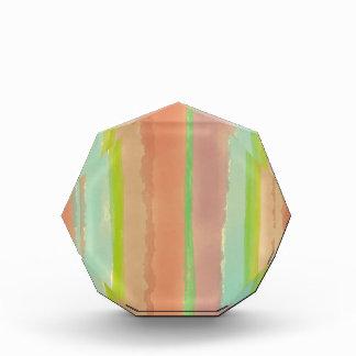 Artsy Pastel Watercolor Stripes Acrylic Award