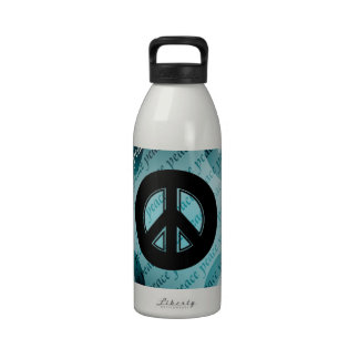 Artsy Peace Signs Reusable Water Bottles