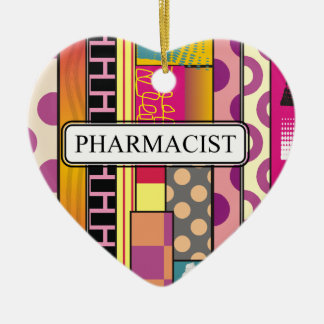 Artsy Pharmacist Gifts Ceramic Ornament