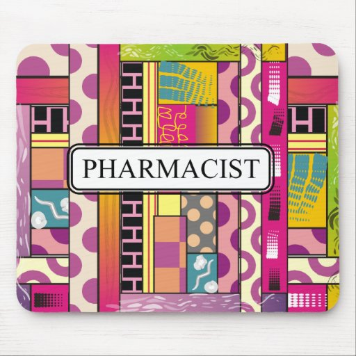 Artsy Pharmacist Gifts Mouse Pad