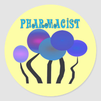 Artsy Pharmcist Gifts Classic Round Sticker