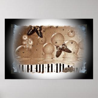 Artsy Piano Music Poster