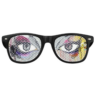 Artsy Pinhole Party Glasses with Pretty Eyes