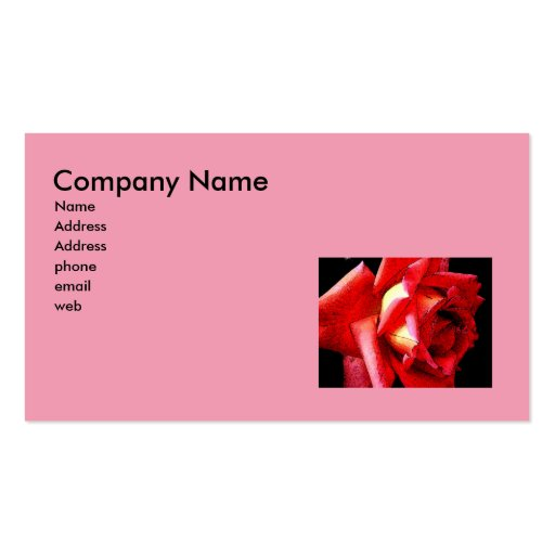 Artsy pink rose business card zazzle for Artsy business cards
