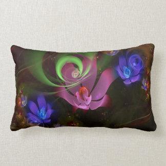 Artsy Pinks,greens and mauve print Lumbar Pillow