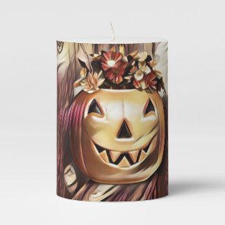 Artsy pumpkin candle