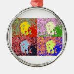 artsy puppy ornaments