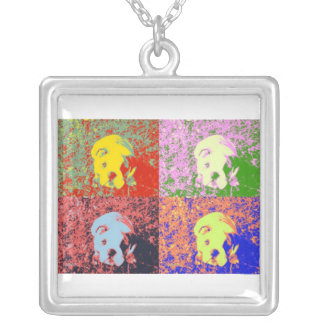 Artsy puppy silver plated necklace