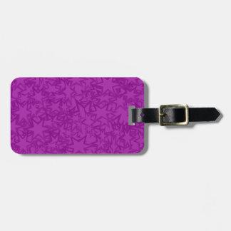 Artsy Purple Stars Bag Tag
